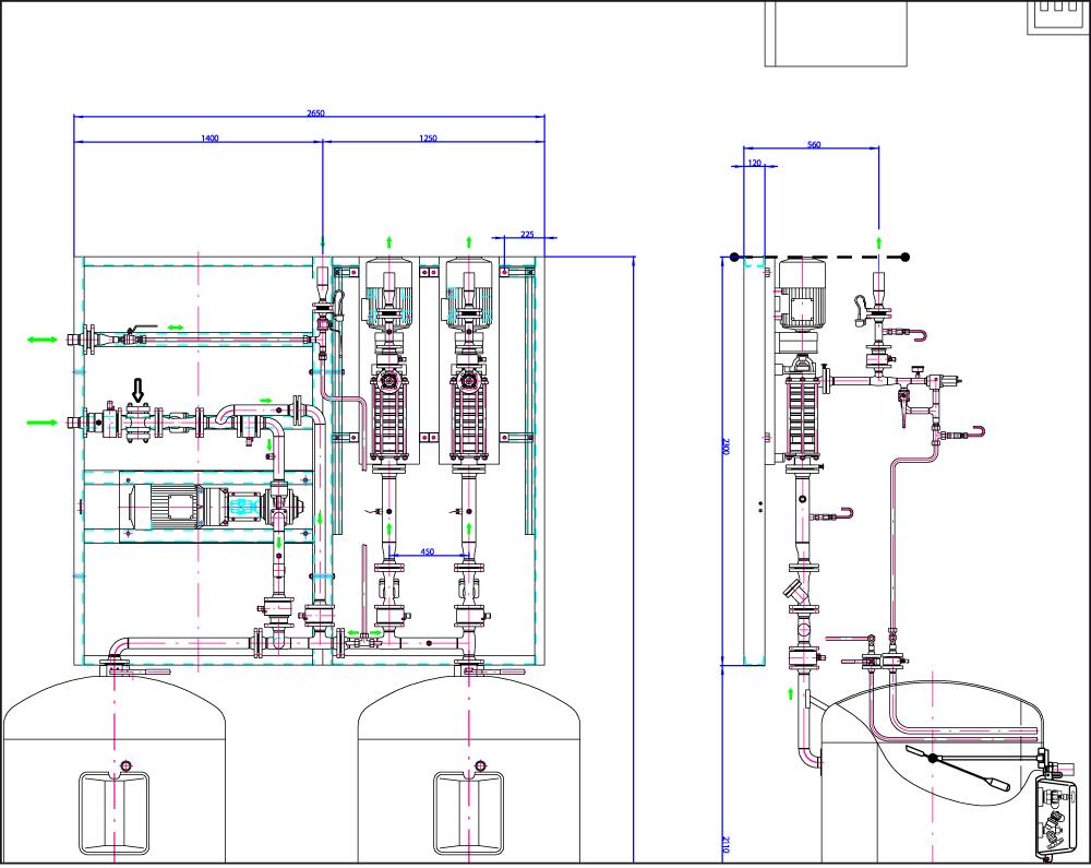 схема управления насосной станции